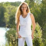 DEBARDEURS/Débardeur de yoga avec broderie Fleur de Vie