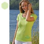 Racine/T-Shirt de YOGA FLEUR DE VIE – vert kiwi