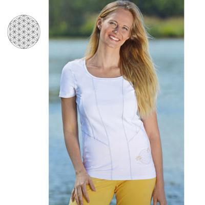 T-SHIRT Manches courtes T-Shirt de YOGA FLEUR DE VIE – Blanc