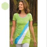 Racine/T-Shirt long WAVING MANDALAS – KIWI-TURQUOISE