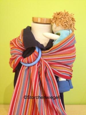 Ringslings STORCHENWIEGE Ringsling porte-poupées pour enfants