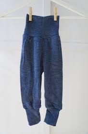 Sous-vêtements ENGEL – Pantalon laine et soie à large ceinture Bleu chiné (62 au 92)