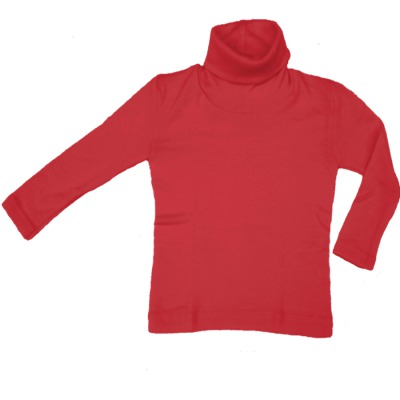 Racine ENGEL - Col roulé Rouge en laine/soie (tailles 86-140)