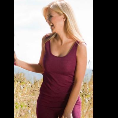 Racine DEBARDEUR en laine/soie FEMME – ORCHIDEE