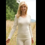 Vêtements et sous-vêtements laine et soie Engel Natur/SOUS-PULL en laine/soie FEMME – ECRU