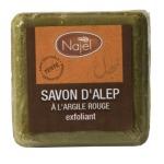 Racine/SAVON D'ALEP exfoliant À L'ARGILE ROUGE