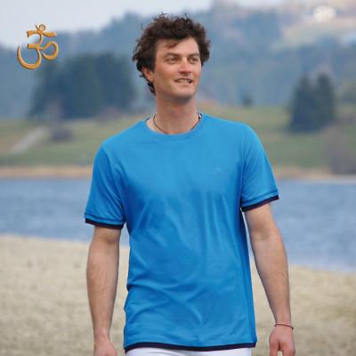 T-SHIRT Manches courtes T-Shirt BASIC BLEU AZUR – OM