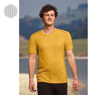 Pour homme T-Shirt en bambou manches courtes – JAUNE MAÏS