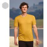 T-SHIRT Manches courtes/T-Shirt en bambou manches courtes – JAUNE MAÏS