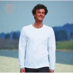SPIRIT OF OM - Vêtements de Yoga et Bien-Être/T-Shirt FLEUR DE VIE – manches longues – BLANC