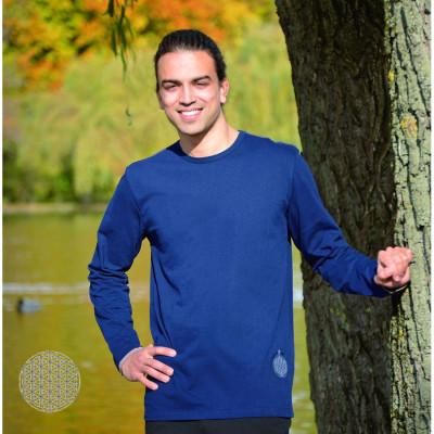 T-Shirt Manches Longues T-Shirt FLEUR DE VIE – manches longues – BLEU NUIT