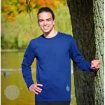 Racine/T-Shirt FLEUR DE VIE – manches longues – BLEU NUIT