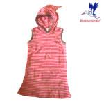 Racine/STORCHENKINDER – ROBE LUTIN – RAYURES ROSE-ÉCRU – Coton bio