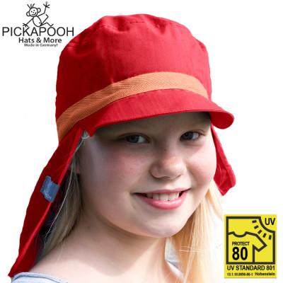 Chapeaux été PICKAPOOH –  CASQUETTE DE SOLEIL ENFANT HENRI - ROUGE (UV80)