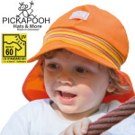 Racine/PICKAPOOH – CASQUETTE DE SOLEIL BEBE TIM – ORANGE (UV60)