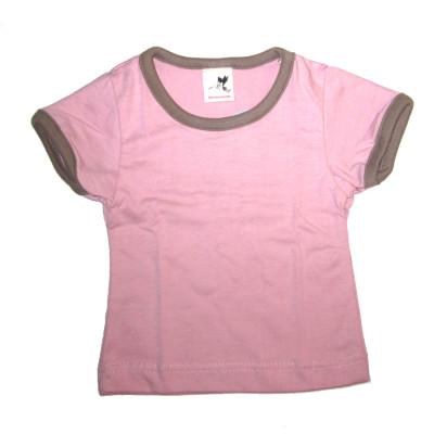 Débardeurs, T-shirts, pulls, gilets, multicapes et bodys STORCHENKINDER – T-Shirt manches courtes ROSE en coton bio