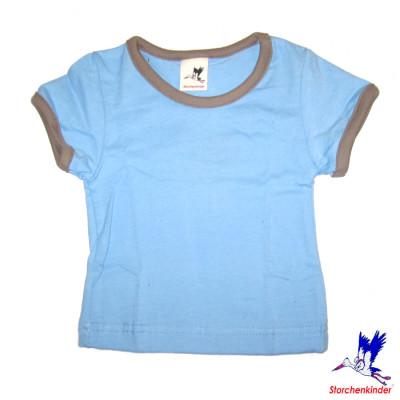 Racine STORCHENKINDER – T-Shirt manches courtes BLEU CIEL en coton bio