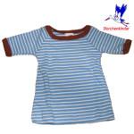 T-SHIRTS et SWEATSHIRTS/STORCHENKINDER - T-Shirt NOUVEAU-NE en coton bio RAYURES BLEU-ECRU - taille 50/56
