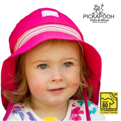 Chapeaux été PICKAPOOH – CHAPEAU DE SOLEIL POMPIER – FUCHSIA (UV80)
