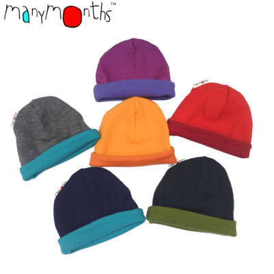 Laine 100% mérinos Ancienne Collection MANYMONTHS - BEANIE - Bonnet reversible