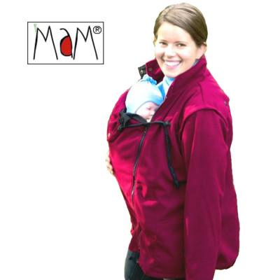 Vêtement de portage et de grossesse MaM Two Way Jacket DELUXE – ROUGE CORNALINE