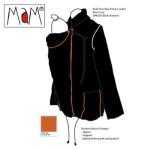 Vêtement de portage et de grossesse/MaM Two Way Jacket NOIR-AUTOMNE – imperméable