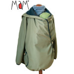 Racine/MaM MOTHERHOOD COAT – OLIVINE CRYSTAL – Veste de maternité Portage Ventre/Dos Imperméable