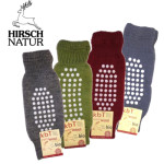 Chaussettes/Hirsch -Jambières - Protège-genoux antidérapantes en laine bio