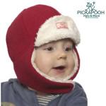 Racine/PICKAPOOH - Bonnet enfant FYNN ROUGE