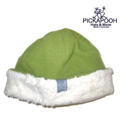 Bonnets hivers PICKAPOOH - Bonnet en laine JO - VERT BAMBOU