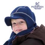 Bonnets hivers/PICKAPOOH - Casquette bébé en laine LINUS - BLEU MARINE