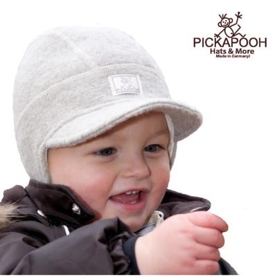 Racine PICKAPOOH - Casquette bébé en laine LINUS - GRIS CLAIR
