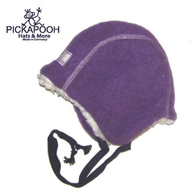 Racine PICKAPOOH - Bonnet Bébé en laine JAN - VIOLET