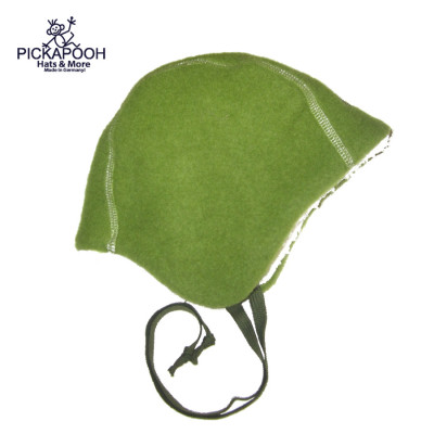 Bonnets hivers PICKAPOOH - Bonnet Bébé en laine JAN - VERT BAMBOU