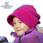 CHAPEAUX ET BONNETS/PICKAPOOH - Bonnet fille en laine LUNA - FRAMBOISE