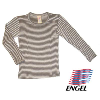 Racine ENGEL – SOUS-PULL manches longues RAYURES ECRU-NOIX en laine/soie (86-152)