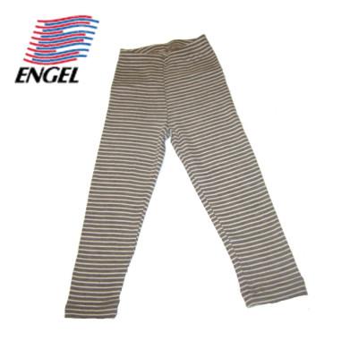 Racine ENGEL – LEGGING RAYURES ECRU-NOIX en Laine/Soie (86-152)