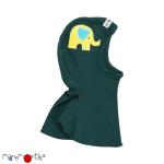 CHAPEAUX ET BONNETS/MANYMONTHS -CAGOULE «ELEPHANT» en pure laine mérinos avec broderie éléphant
