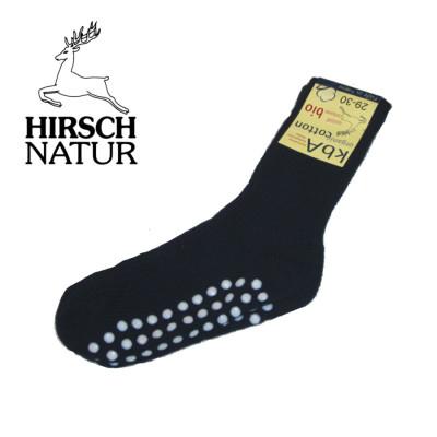 Chaussettes Hirsch - Chaussettes anti-dérappantes en coton bio - Bleu