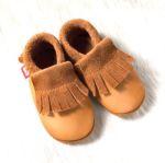 POLOLO SOFT - Chaussons souples en cuir naturel de tannage végétal pour enfants (24 à 39)/Chausson Pololo BIO - MOCASSIN été indien (18 à 33)