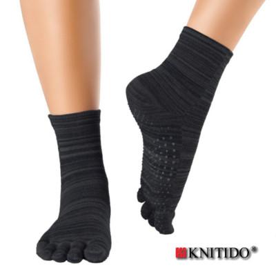 Chaussettes à doigts KNITIDO Knitido - Chaussetttes à orteils anti-dérapantes – POIVRE NOIR