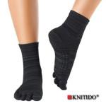 Chaussettes à doigts KNITIDO/Knitido - Chaussetttes à orteils anti-dérapantes – POIVRE NOIR