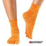 Chaussettes à doigts KNITIDO/Knitido - Chaussetttes à orteils anti-dérapantes – ORANGE