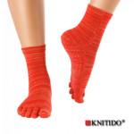 Chaussettes à doigts KNITIDO/Knitido - Chaussetttes à orteils anti-dérapantes – ROUGE