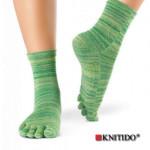 Chaussettes à doigts KNITIDO/Knitido - Chaussetttes à orteils anti-dérapantes – VERT