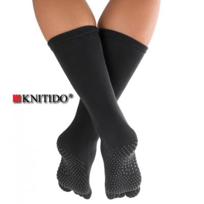 Chaussettes à doigts KNITIDO Knitido - Chaussetttes à orteils anti-dérapantes – NOIR