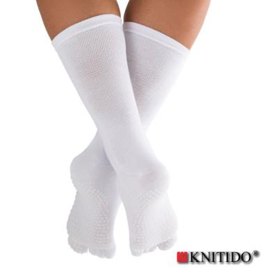 Chaussettes à doigts KNITIDO Knitido Chaussetttes à orteils anti-dérapantes – BLANC