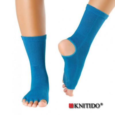 Chaussettes à doigts KNITIDO Knitido – Chaussetttes anti-dérapantes ouvertes -PETROLE