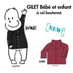 Racine/MANYMONTHS UNIQUE – GILET COL REMONTANT en pure laine mérinos
