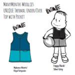 Racine/MANYMONTHS UNIQUE – THERMAL UNDER/OVER TOP avec poche